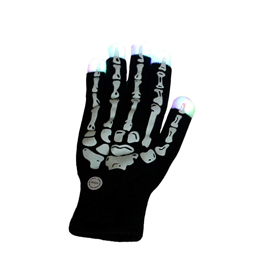 アルミニウム走る子音ゴーストクローズグローブグローブパーティーledフラッシュ手袋芸能バー軽いおもちゃ