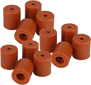 Perfk Pack of 12 Heatbed Silicone Leveling Column, 3D Printer Hot Bed Mounts Rubber Dampers Buffers for Prusa i3 Plus, Brown