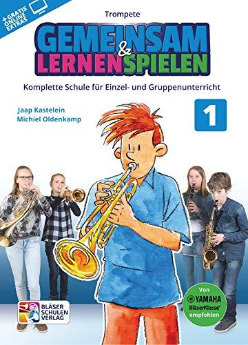 Samen leren & spelen 1 trompet – boek + AUDIO-ONLINE