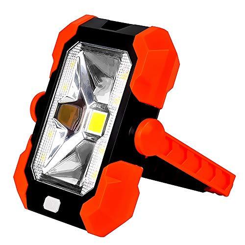 Lampe de travail à LED portable - Multifonctionnel - Lampe solaire portable - IP65 - Étanche - Banque de puissance - Lampe solaire rotative - Pour camping, randonnée, pêche