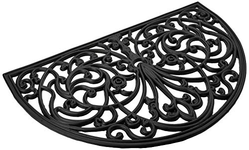 """Achim Home Furnishings WRM1830IW6 Ironworks Wrought Iron Rubber Door Mat, 18 by 30"""""""