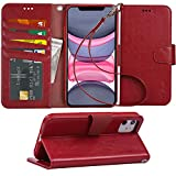 Arae Case for iPhone 11 PU Leather Wallet Case Cover [Stand Feature] with Wrist...