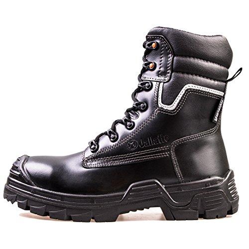 Sicherheitsstiefel SB P Jalatte® LOG290 Schwarz Herren - klappbare Metallspikes, kälteisoliert, wasserabweisend, durchtrittsicher, Zehenschutz (42)