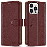 iCatchy for iPhone 13 Pro Case (6.1'') Leather Wallet Book