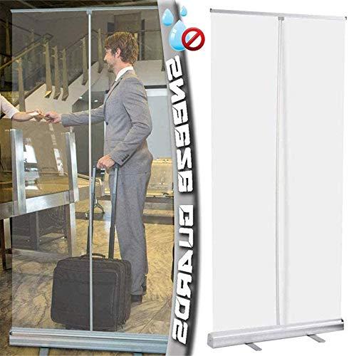 Feeyond 31.5 x 78.7 pulgadas pop-up pantalla de plástico transparente PVC protección de pantalla de distancia social, utilizado en restaurante peluquería y gimnasio
