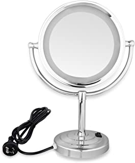 Lighted Makeup Mirror LED Stand Double Side 8.5inch 10x Magnification Makeup Mirror AU