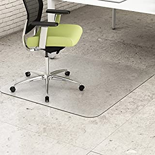 Deflecto CM2G142PET EnvironMat Recycled Anytime Use Chair Mat Hard Floor 36 x 48 Clear
