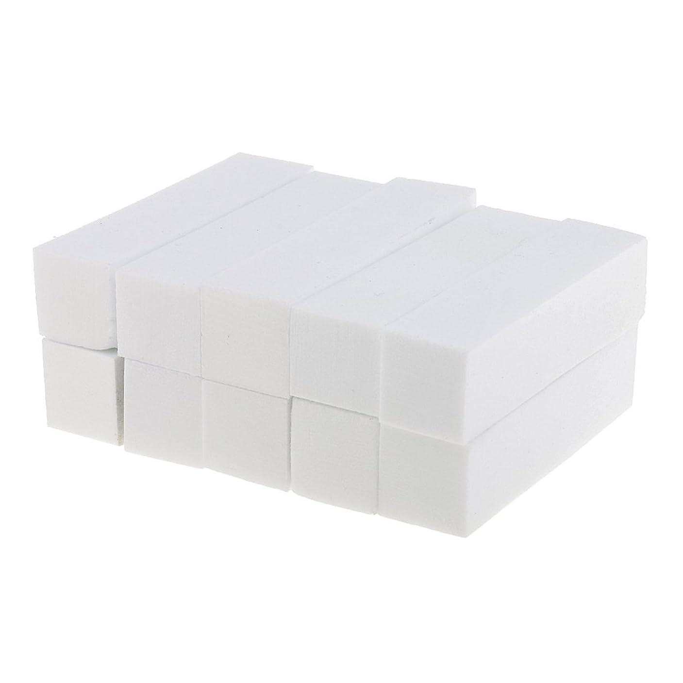 ベース便益ペストDYNWAVE ネイルアート マニキュア ペディキュア バッファー ファイルツール 白 10個