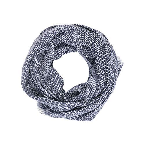 TIE RACK – Cabecero con diseño de lunares, 100% algodón azul marino Talla única