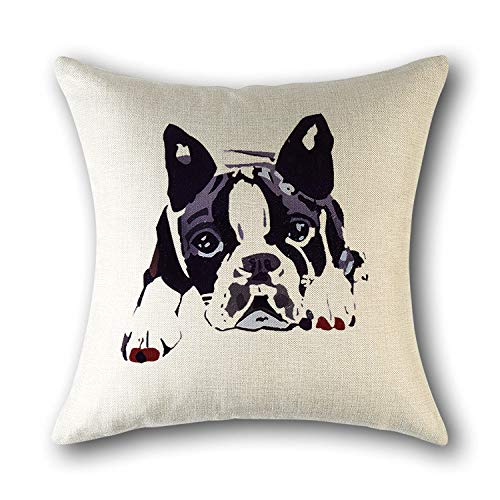 Dollin&Dockin vierkante kussensloop hond katoen gedrukt huiskussen leuke decoratie geschikt voor bank slaapkamer woonkamer auto beschermhoes kleur 5
