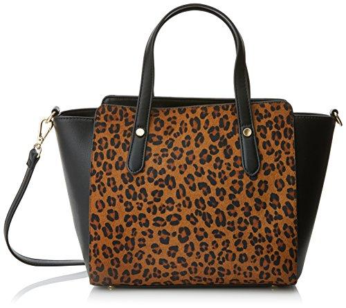 Cortefiel 2.T.BS. Bolso Shopper Med Leopardo, Mujer, Beige (Beigecamel)
