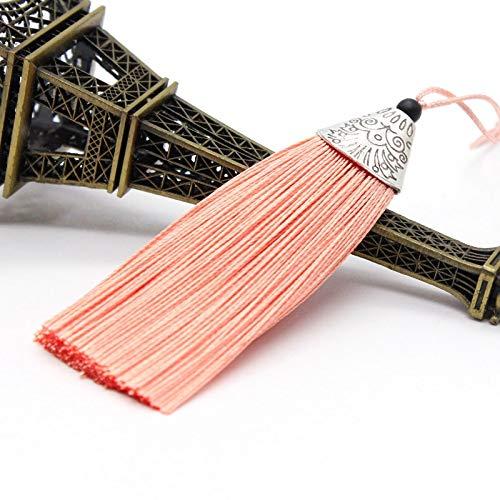 Gxbld-yy 5 stücke 80mm Seide Quaste Fransen Anhänger Quaste Trim Pinsel Vorhang Dekor for Gepäck Ohrringe DIY Craft Supplies Schmuck Zubehör (Farbe : LP 5)