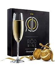 Champagneglas av Kristall i Lyxig Presentförpackning