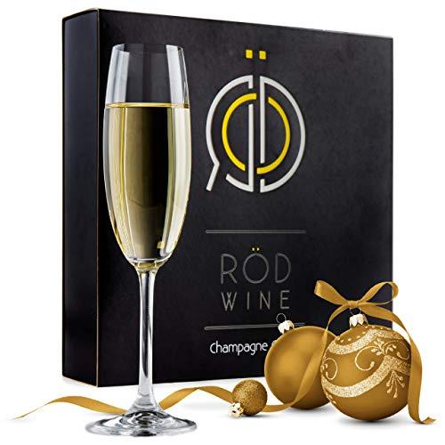 Champagne Glasses - Lead Free Titanium Crystal Sparkling Wine Glass, 7.5 oz....