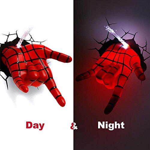 『3D Deco Light/3D 壁掛け専用デコレーションライト スパイダーマン ハンド』のトップ画像