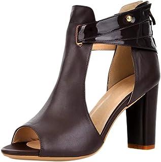 comprar comparacion Luckycat Sandalias para Mujer, Zapatos de Tacón Medio Mujer, Playa Zapatos de Verano, Zapatos de Boca de Pescado, Sandalia...