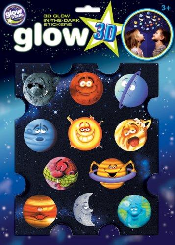 The Original Glowstars Company – Autocollants 3D phosphorescents – Planètes amusantes