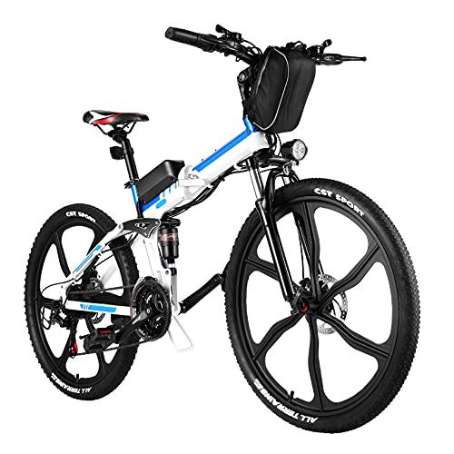 VIVI 250W E Bike Klapprad Damen Herren E-Mountainbike 26 Zoll/20 Zoll Faltrad Elektrofahrrad Pedelec E-Bike mit 36V 8AH Abnehmbarer Akku、Fahrrad Elektro Höchstgeschwindigkeit 25KM/H