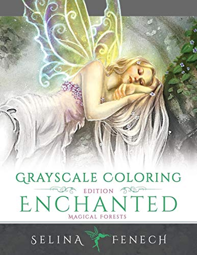 Enchanted Magical Forests - Grayscale Coloring Edition (Grayscale Coloring Books by Selina) (Volume 3)