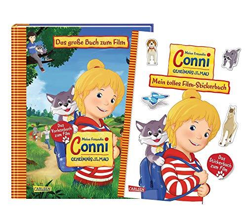 Carlsen Verlag Meine Freundin Conni - Set: Geheimnis um Kater Mau: Das große Buch zum Film + Mein tolles Film-Stickerbuch