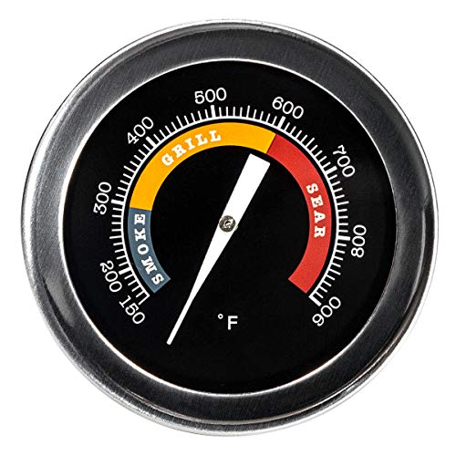GriAddict 2In Grill Temperature Gauge for Replacement Big Green Egg Accessories, Char-Griller and Other Grills - IP67 Waterproof Body, Hermetically Sealed and Maintain Precise Cooking Temperatures…