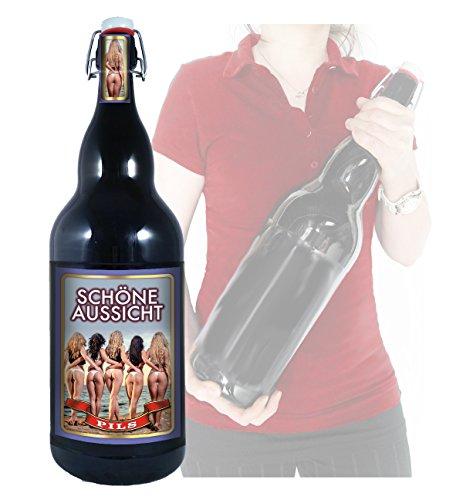 Schöne Aussicht - 3 Liter XXL-Flasche Bier mit Bügelverschluss