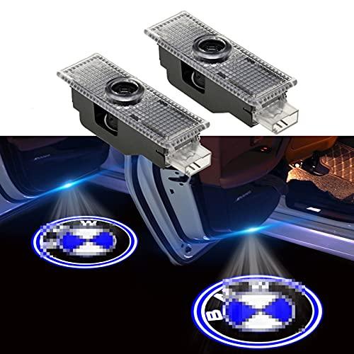 SHENYH Luce della Portiera Dell'auto, Luce del Logo Dell'auto, Luce di Benvenuto per Auto, Luce del Proiettore A LED per Portiera Dell'auto, Luci Fantasma, Luci della Pozzanghera (Quantity : 2PCS)