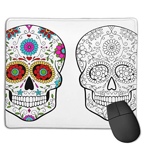 Mousepad Set Zuckerschädel Malvorlagen Mousepad beständig mit Anti-Rutsch-Gummi