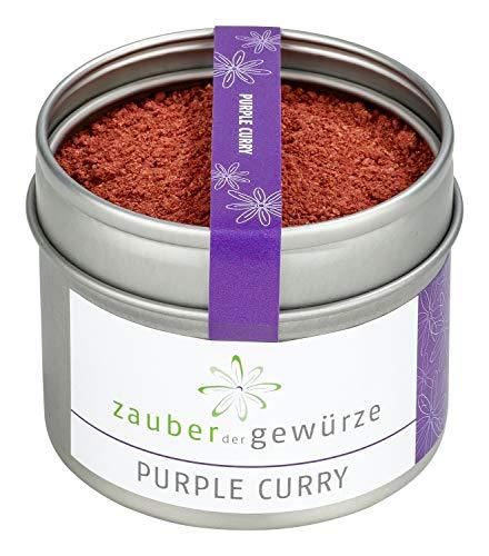 Purple Curry, fruchtig-aromatische Gewürzmischung mit echten Hibiskusblüten für Geflügel, Fisch oder als Dip, 55g