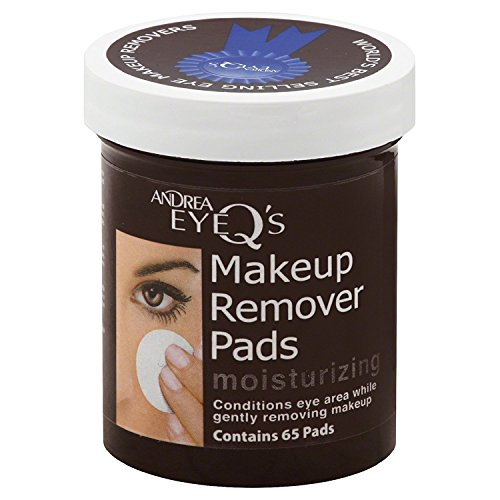 Andrea Eye Q's Eye Make-Up Remover Pads Moisturizing 65 Each (Pack of 4) Michigan