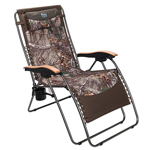 Timber Ridge Zero Gravity Chair Oversized Recliner Padded Folding Patio Lounge Chair 350lbs Capacity Adjustable Lawn...