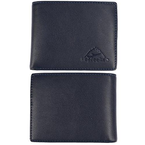 Hopsooken Portafoglio Cuoio Uomo RFID Portamonete Portafogli Vera Pelle Bifold