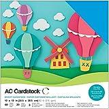 American Crafts 376982/cardstock Variety Pack Primaries 60/Fogli di cartoncino 30,5/x 30,5/cm