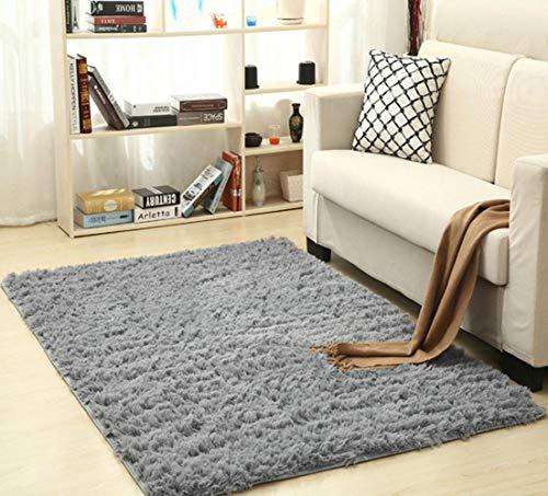 Soft Silk Shag Area Rug Silky Rugs Bedroom Floor Mat Baby Nursery Rug Children Carpet,50X120cm