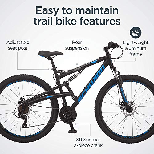 Product Image 3: Schwinn S29 Mens Mountain Bike, 29-Inch Wheels, 18-Inch/Medium Aluminum Frame, Dual-Suspension, Mechanical Disc Brakes, Matte Black