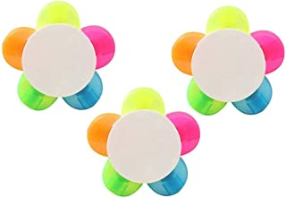 BinaryABC Petal Highlighter,Flower Shape Highlighter,Fluorescent Watercolor Marker Pen 3Pcs(5 Colors)