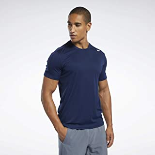 Reebok Men's Wor Comm Ss Tech T-Shirt, Collegiate Navy