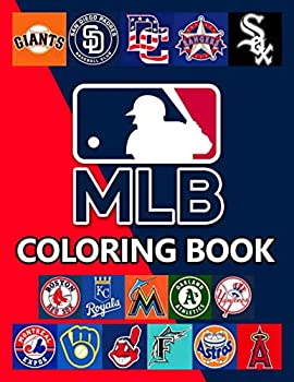 MLB Coloring Book  Enjoy An Exciting Activity With Logo Team MLB