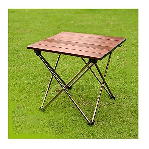 XIAOJU Mesa de Servicio Plegable - Escritorio pequeño Plegable - Ligero - Mesa de jardín Plegable - Mesa de jardín Plegable para Camping, Picnic de Fiesta,S