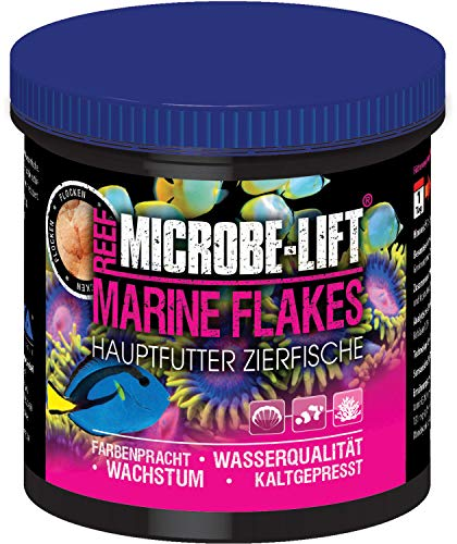 MICROBE-LIFT Marine Flakes - Flockenfutter, Alleinfutter für alle Fische in jedem Meerwasseraquarium, 500ml / 50g