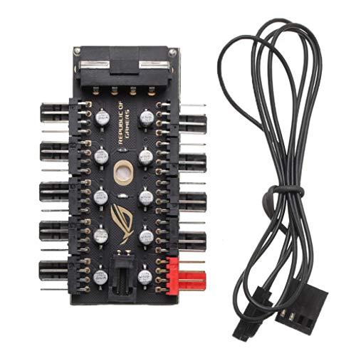 Guangcailun Controlador de Velocidad de PC más frío Hub de 4 Pines PWM Enfriador de Conector PWM refrigerador Adaptador del Ordenador Cubo del Ventilador Splitter accesor, IDE