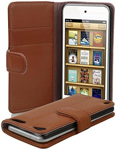 Cadorabo Custodia Libro per Apple iPod Touch 5 in Marrone Castagno - con Vani di Carte e Funzione Stand di Similpelle Fine - Portafoglio Cover Case Wallet Book Etui Protezione