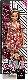 Barbie Fashionista, muñeca 32cm con look estampado de gatitos (Mattel FJF57)