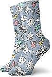tyui7 Cute Dientes de pasta de dientes Calcetines de vestir Calcetines divertidos Calcetines locos Calcetines casuales para niñas Niños