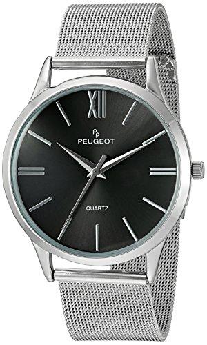 Peugeot Herren Analog Quarz Uhr mit Edelstahl Armband 1052SBK