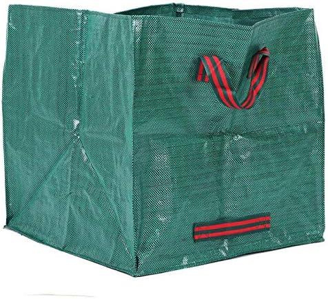 Makkelijk op te bergen Vierkante groene PPmateriaal opbergtas Tuinbladzak voor bladeren voor tuinreiniging voor kledingopslag