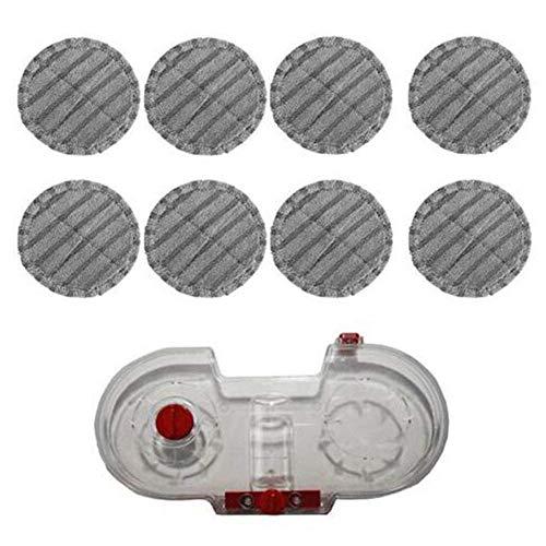 QIBIN Piezas de aspiradora eléctrica Mopping Aspiradora Tanque de agua para V7 V8 V10 V11 piezas reemplazables de mano de vacío traer 8 trapos
