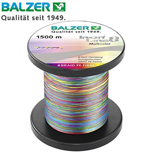 mächtig Balzer Iron Line 8 Multicolor – 1500 m lange geflochtene Schnur zum Spinnen…