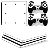 Mcbazel Pattern Series Vinyl Skin Sticker For PS4 Pro Controller & Console Protect Cover Decal Skin (White)
