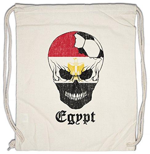 Urban Backwoods Egypt Football Skull I Turnbeutel Sporttasche